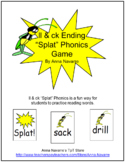 "ll & ck Ending ""Splat"" Phonics Game"