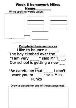 ll homework sheet