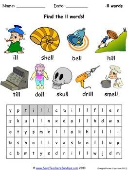 ll phonics worksheets, activities and other teaching resources