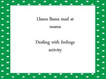 llama llama mad at mama emotions activity