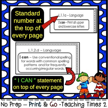 1st Grade ELA Common Core (All Standards) Assessment Pack-260 pages
