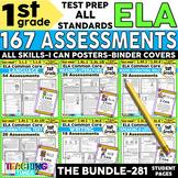 1st Grade ELA Common Core (All Standards) Assessment Pack-
