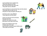 long U (CVCe) Word Detective Poem
