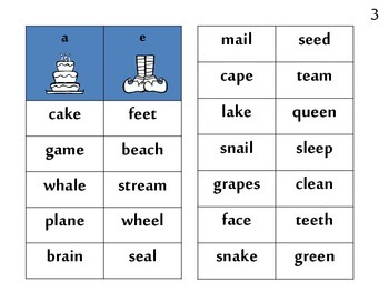 long VOWEL word sort & game BE A HERO! Superhero theme