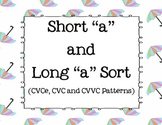 long a/ short a file folder game