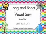 long and short vowel sort letter e