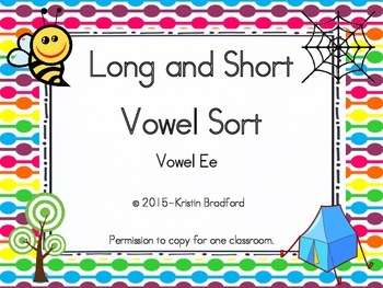 long and short vowel sort letter e