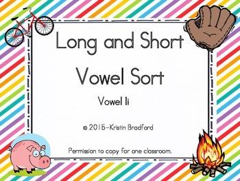 long and short vowel sort letter i