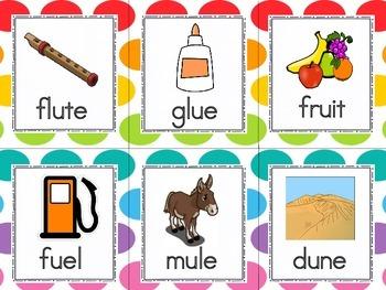 long and short vowel sort letter u