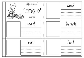 'long e' as in Beach - Spelling Activity Packet