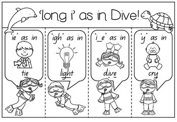 'long i' as in Dive - Spelling Activity Packet