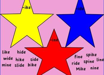 Promethean Board- long i, silent e- Smile Mike! flipchart Treasures First Grade