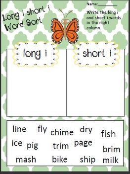 long i worksheets