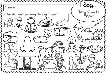 'long o' as in Snow - Spelling Activity Packet