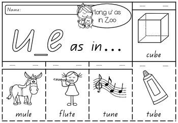 'long u' as in Zoo - Spelling Activity Packet
