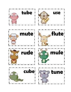 long u /ue/ u_e and ew cards