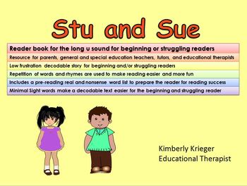 A long u vowel book for struggling and/or beginning readers