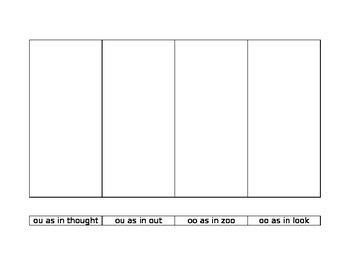 long vowel pattern word sort/ hunt