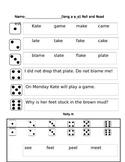 long vowel phonics partner reading game