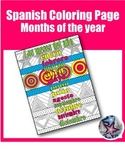 los meses del año - Months of the year Spanish Adult Coloring Page