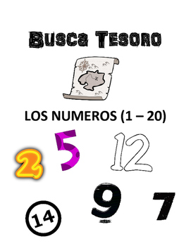 Scavenger Hunt Game: Los Numeros 1 - 20 (the numbers)