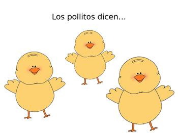 los pollitos dicen lyrics song Easter spring time