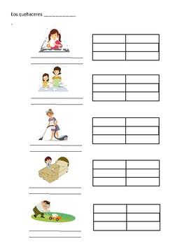 los quehaceres/ verb conjugation