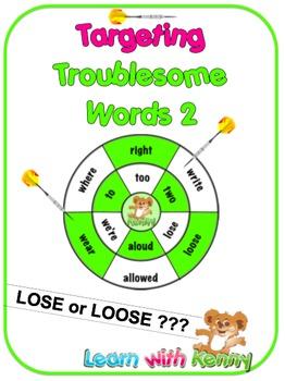 lose/loose – Targeting Troublesome Words Worksheets