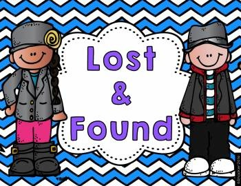 lost and found bin labels