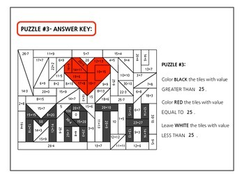 """love math""- 4 add and subtract differentiated puzzles aligned with common core"