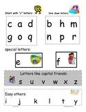 lower case letter handwriting kit