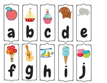 lowercase alphabet cutouts