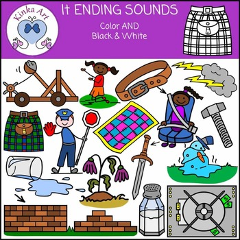 lt Ending Sounds Clip Art