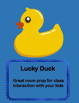 lucky duck room prop for circle time
