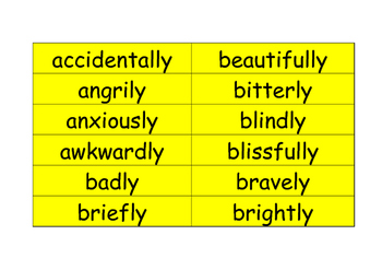 ly adverb flashcards