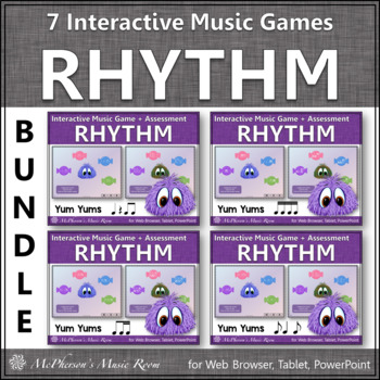 Yum Yums!  Interactive Rhythm Games - Bundle