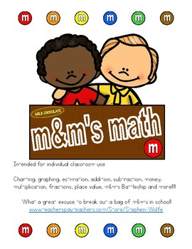 m&m math and activity pack
