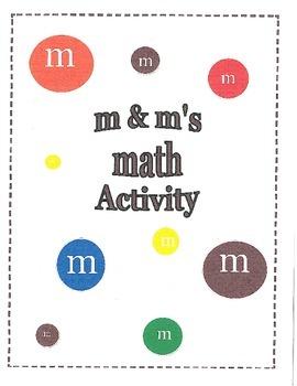 m & m's Math Activity Packet