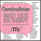 Articulation Therapy Sound Lists: /m/, /n/ & /h/ {featuring coarticulation}