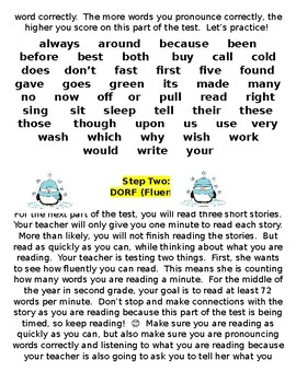 mCLASS 3D Middle-of-Year Testing Preparation Packet for Second Grade