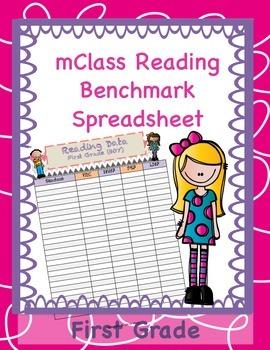 mClass Data Spreadsheet for First Grade