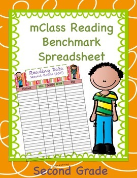 mClass Data Spreadsheet for Second Grade