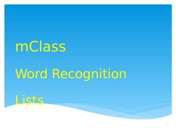 mClass Dibels Reading 3D Word Recognition PowerPoint Presentation