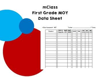 mClass First Grade MOY Data Sheet