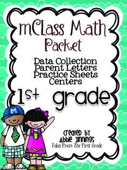 mClass Math Data, Practice, and Centers Packet-First Grade