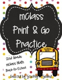 mClass Math PRINT AND GO Practice-2nd Grade-Back to School/September