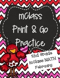 mClass Math PRINT AND GO Practice-2nd Grade-February