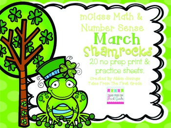 mClass Math and Number Sense March Shamrocks