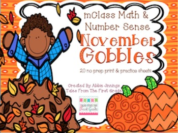 mClass Math and Number Sense November Gobbles