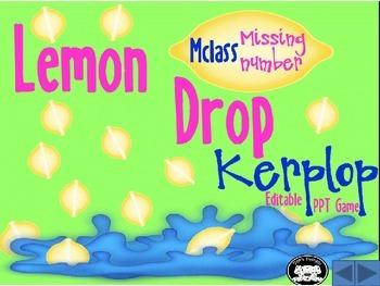 mClass Missing Number Lemon Drop Kerplop PowerPoint Minibook